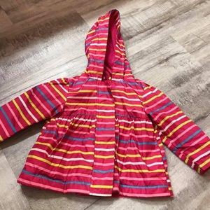 Other - Girls 12m Pink & Colorful Stripe Raincoat